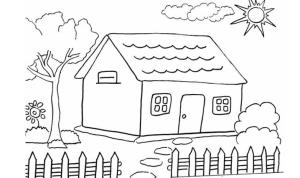 gambar mewarnai rumah