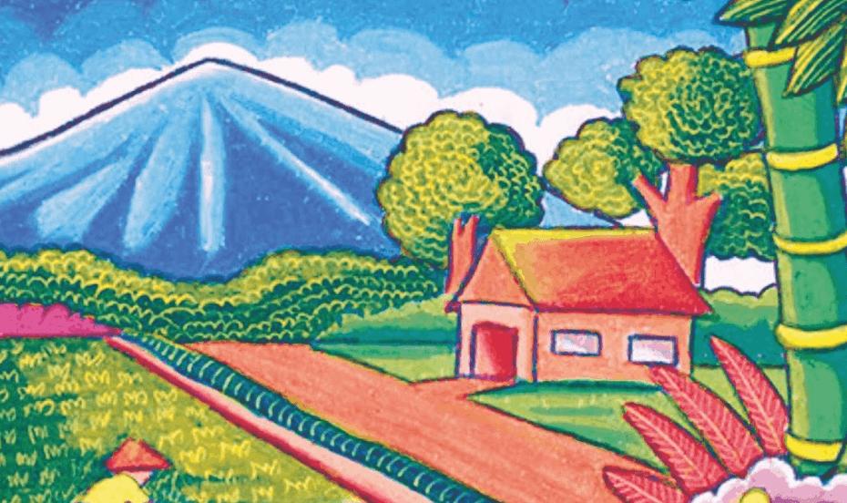 7 sketsa gambar mewarnai pemandangan siap