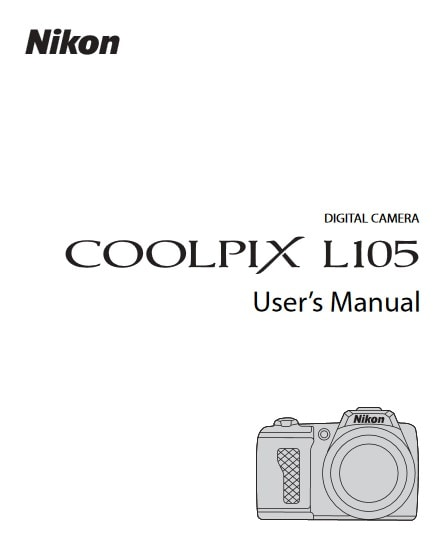 Nikon Coolpix L105 Manual, Camera Owner User Guide and