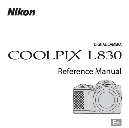 Nikon Coolpix L830 Manual, Camera Owner User Guide and