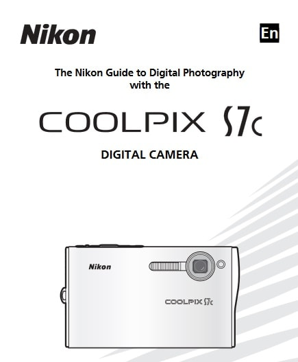 Nikon Coolpix S7c Manual, Camera Owner User Guide and