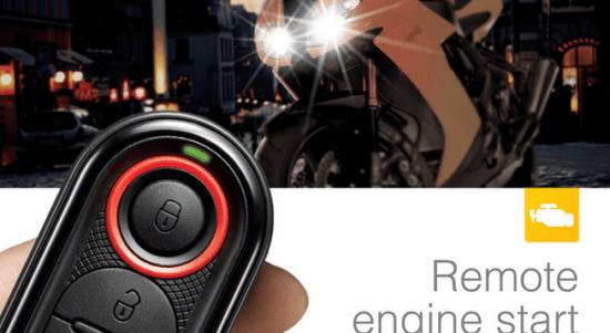 Remote Control of Alarm and Lamps for Motorcycle