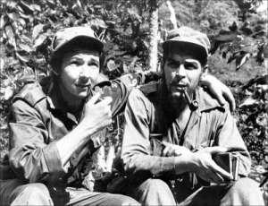 """Raul Castro and Ernesto """"Che"""" Guevara, June 1958"""