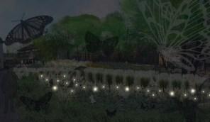 Wizualizacja Ogrodu Motyli (noc)