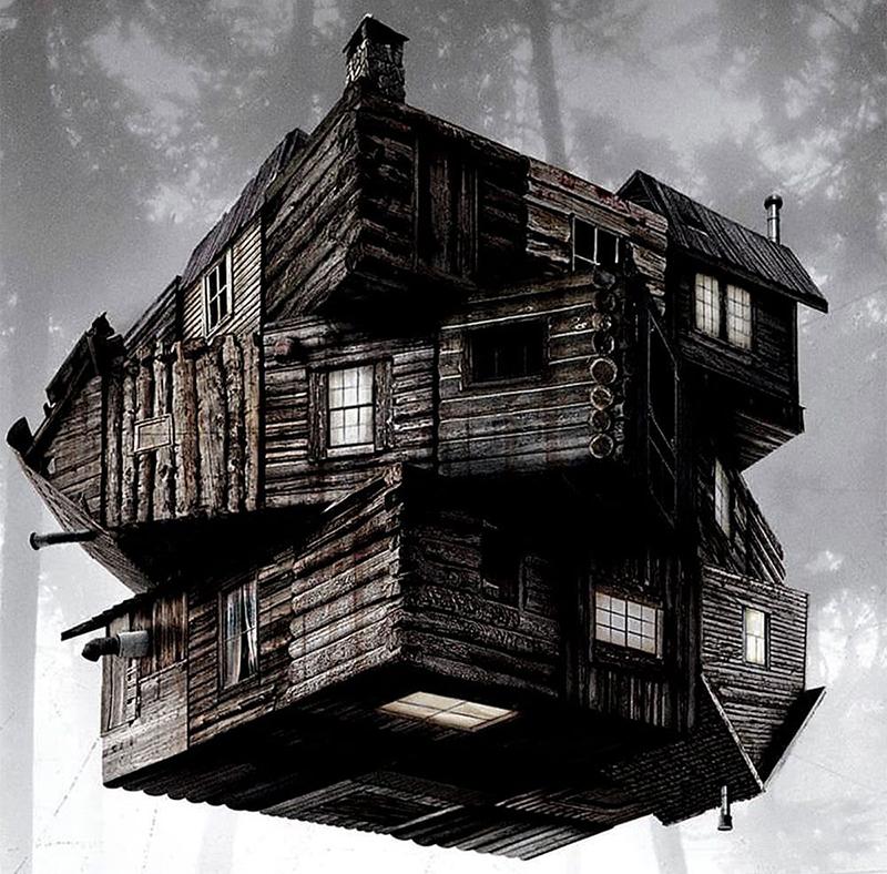 Dans ce troisième film de ma sélection Halloween. On voit une cabane flottée dans les air
