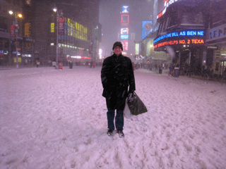 Randall Ringer in Times Square