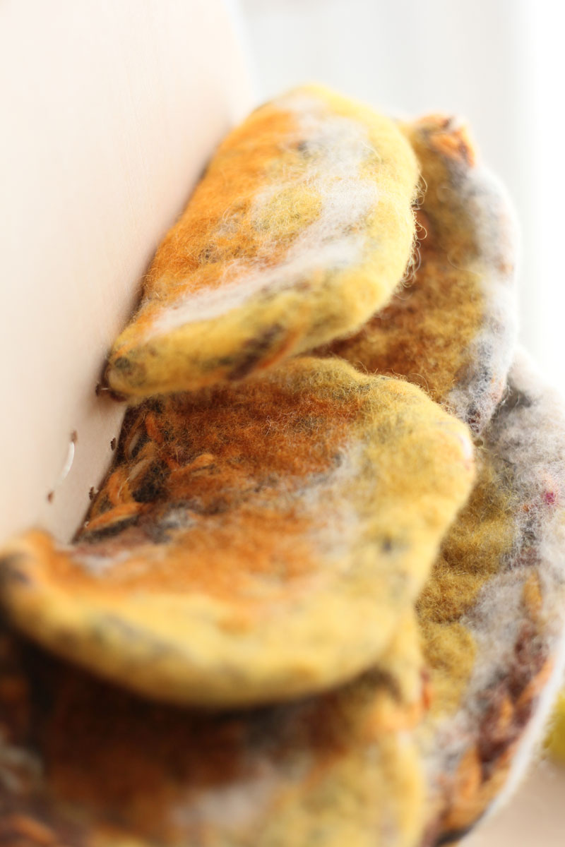 The mushroom-like sensor : close up of the layers