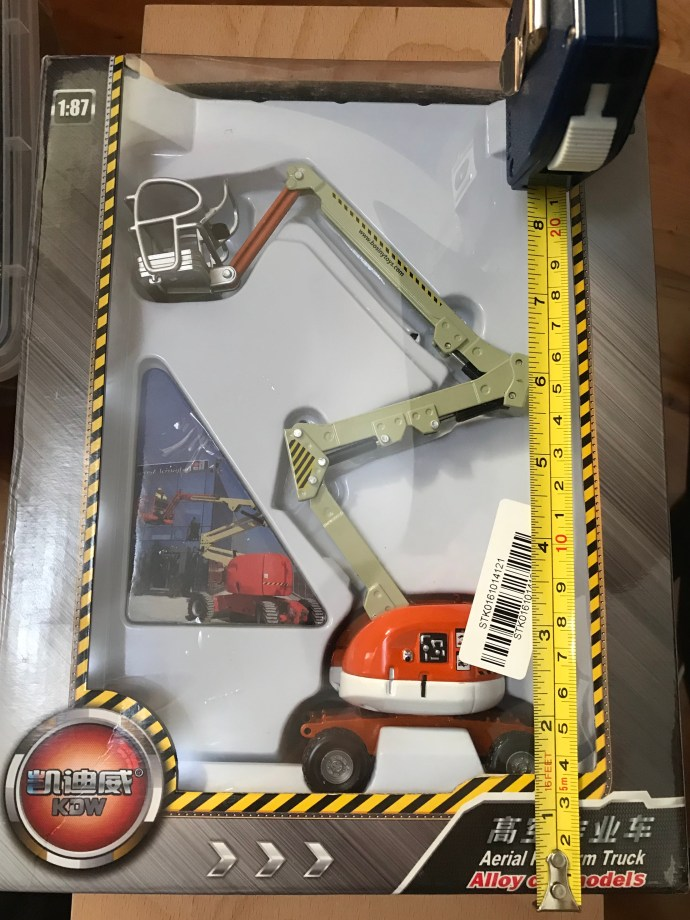 Supposedly 1/87 scale cherry picker