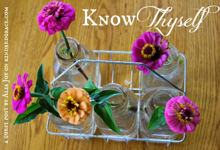 Know Thyself: A Guest Post at Kindred Grace