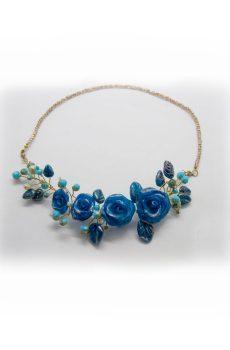 Collar filigrana Rosas y Cristal