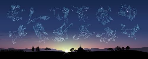 空に浮かぶ12星座