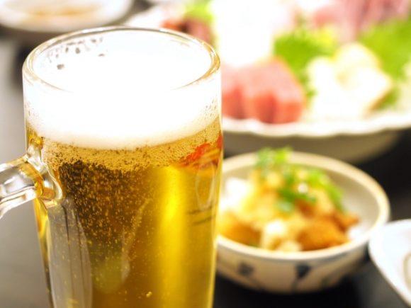忘年会のビール
