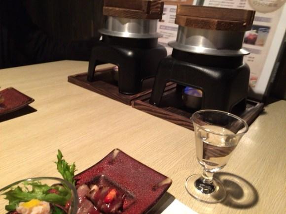 旅館で夕飯