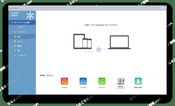 FonePaw iOS転送3