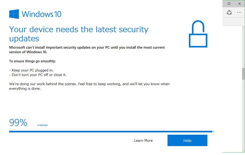 【Windows10】英語のアップデート畫面は閉じれる | ヨウスケのなるほどブログ。