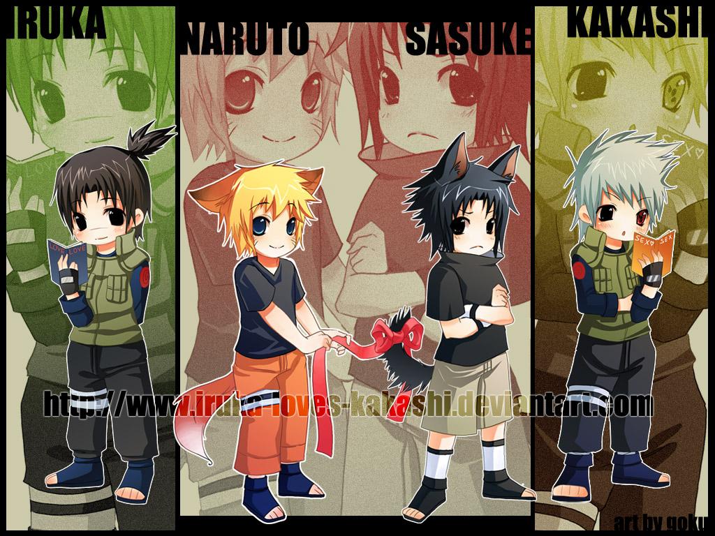 Naruto Team 7 Wallpaper Cute Gambar Naruto Chibi Narutocollection