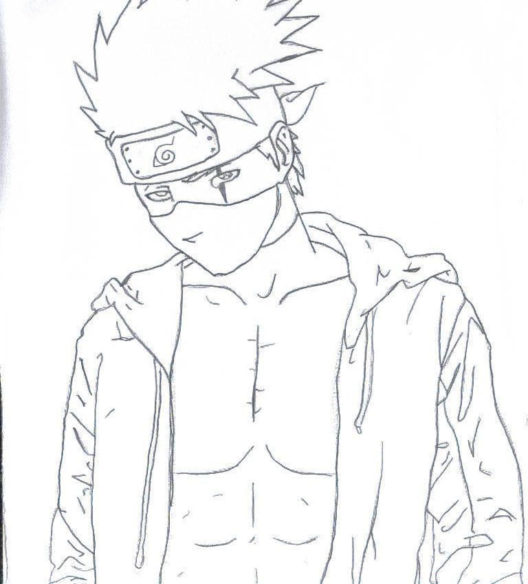 dessin a colorier de kakashi