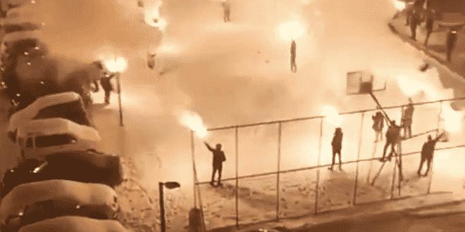 BRAVO VITEZOVI: Uhapšeni i kažnjeni sa 1.100 eura zbog bakljade u Pljevljama (VIDEO) 3