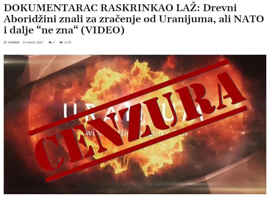 OVU VEST NE SMETE DA DELITE: Potpuna cenzura članka Naše Borbe o zločinu nad Srbima (FOTO) - Naša Borba