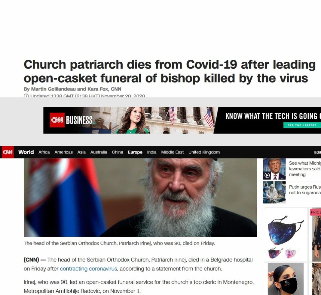 """SI-EN-EN SE """"SLADI"""": Srpski patrijarh preminuo, držao opelo zaraženom Amfilohiju! 1"""