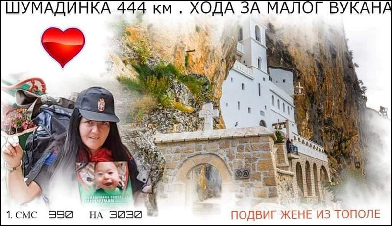 OVAKO SE VOLI SVOJA ZEMLJA: Humanitarno pešačenje za malog Vukana, krenula na put od 444 kilometara! 3