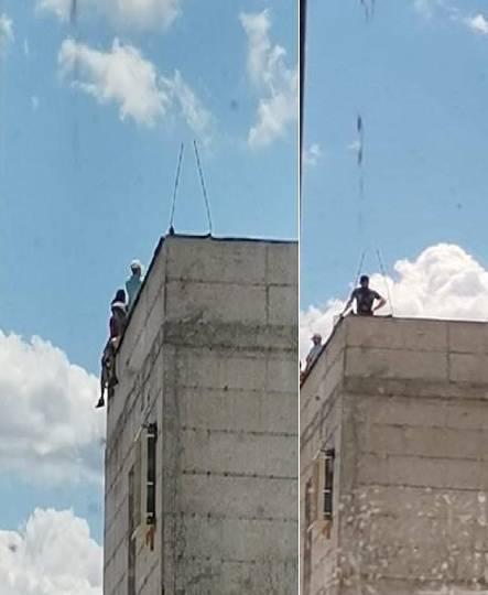 LUDILO U KRAGUJEVCU: Turski radnici sa krova zatvora bacaju cigle jer im nisu dali platu! 1