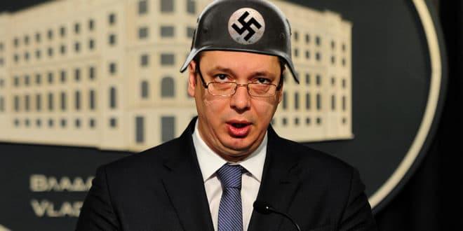 VUČIĆ OFARBAO SRBIJU U BOJE NEMAČKE: Pali se na Mamu Merkel, sve će nas pobiti ludi Fahrijev sin! 1