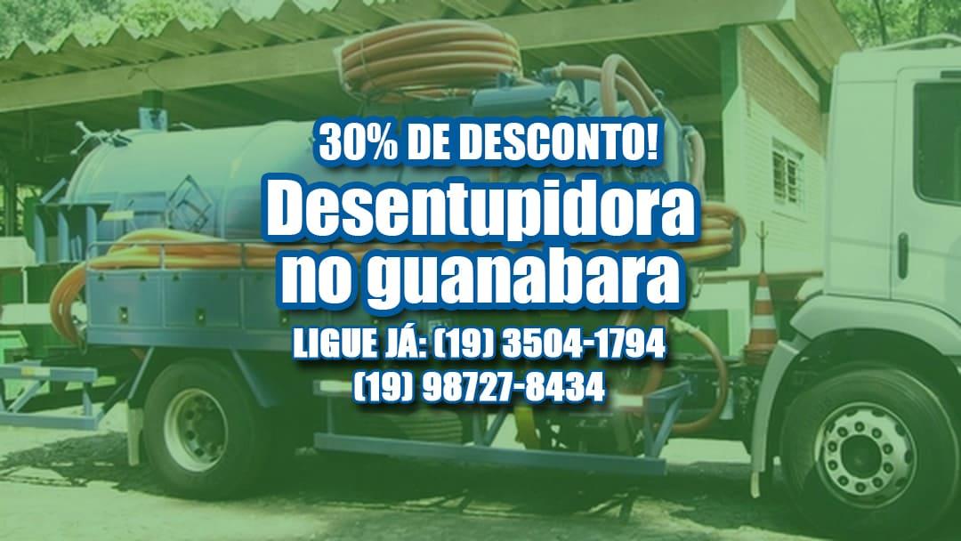 Caminhão Limpa Fossa e Desentupidora no Guanabara