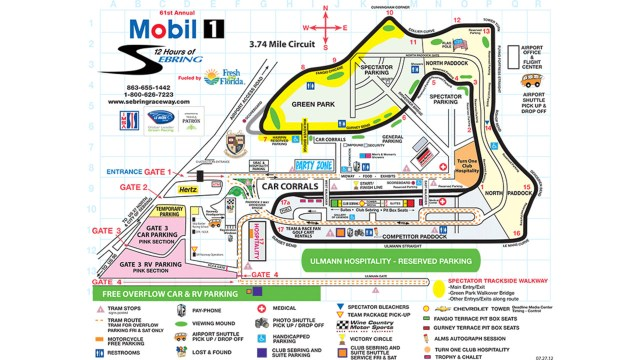 The full-course 17-turn racetrack measures 3.7 miles long.