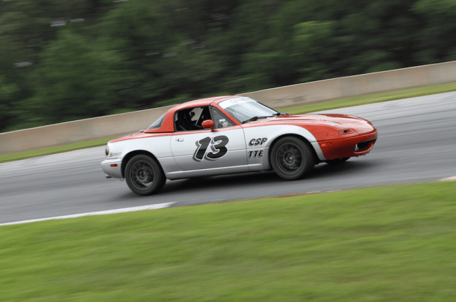 NASA Florida's Chris Wells trailered his TTE Miata to Road Atlanta from Orlando, an eight-hour tow.
