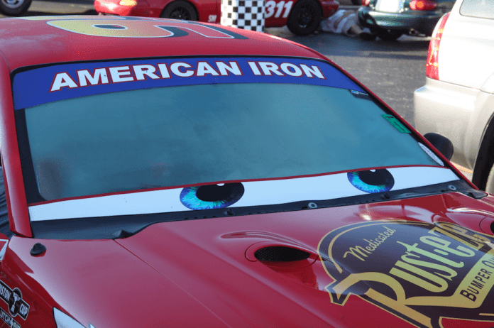 One of the American Iron cars featred a Lightning McQueen theme. Look for a full story on this car in a later issue.