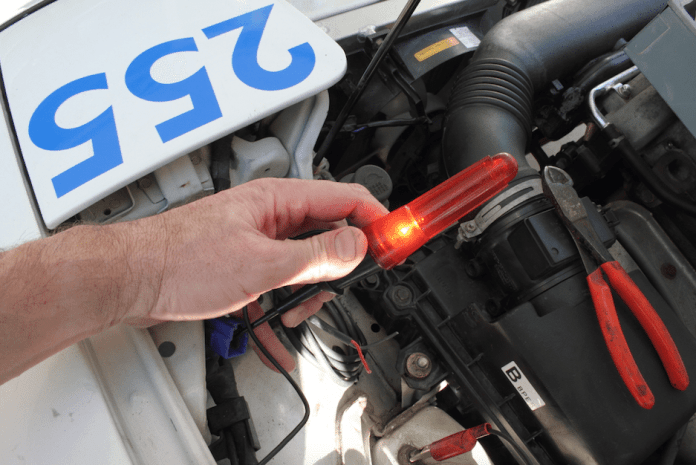 Find power that comes on with the key so you never have to remember to switch on your transponder. A simple test light will tell you what goes hot with the key.