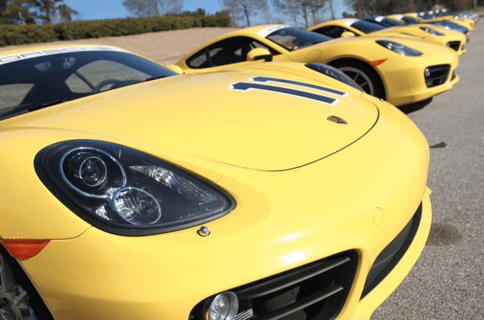 Home to the Porsche Sport Driving School, Barber Motorsports Park has a huge collection of brand-spanking-new Caymans, 911s, Panameras and Cayennes.