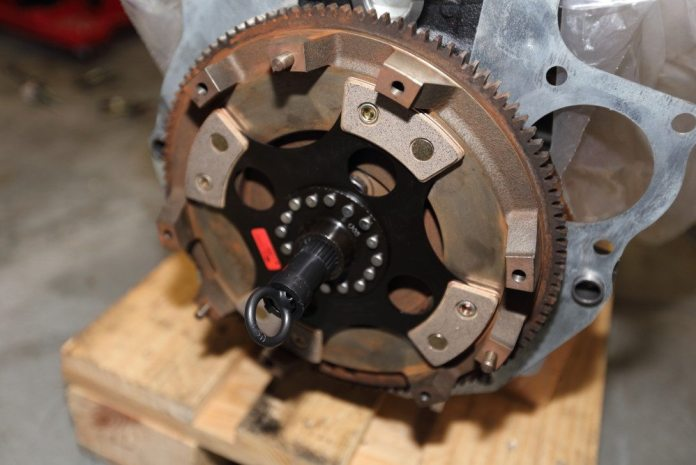 The alignment tool slips into the pilot bearing and holds the clutch disc in place. The appearance of your disc will vary. This is an unsprung, four-pad racing clutch not really suitable for street use. Most clutch discs are actually discs that have a springs in the hub to cushion engagement.