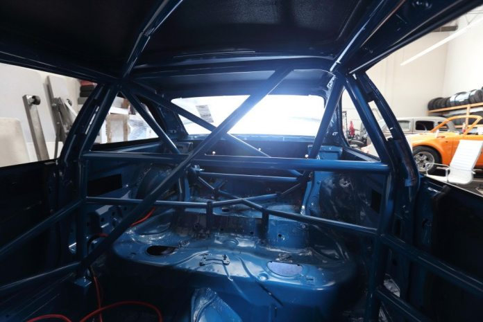 Here you can see how the front half of the cage ties in with the key supports in the rear half of the cage.