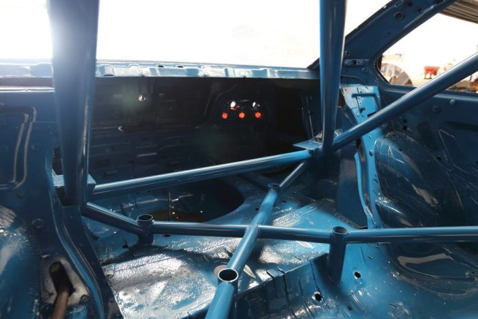In this shot, you get a great look at how the cage was built to reinforce the rear subframe mounting points.