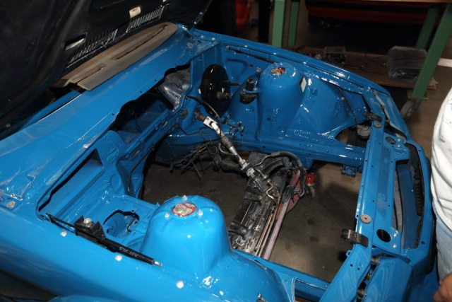 The paint work extended to under the hood and under the chassis.