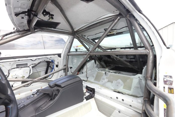 Jim Pierce Motorsports in Torrance, Calif., installed the cage in the E92, which is now ready for paint at C&J Auto Body in Oxnard, Calif.
