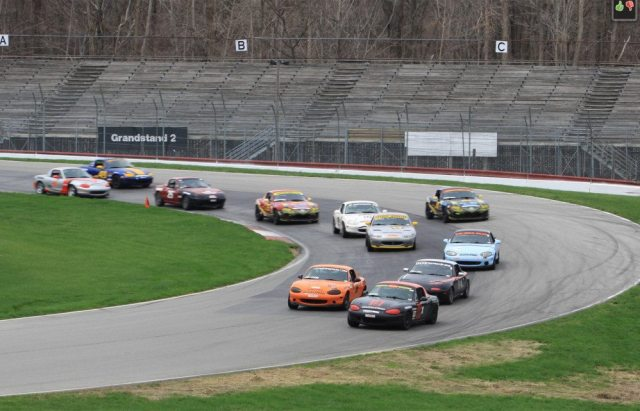 Just .4 seconds separated the top six cars for the first race of the NASA Midwest season at the Mid-Ohio Sports Car Course.