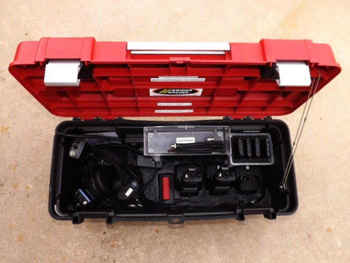 We use a toolbox converted to a radio charging station to recharge all of our electronics (Check out the Toolshed Engineer column from the November 2012 issue for the build of the box). Inside the box, we have our transponder charger ready to go.