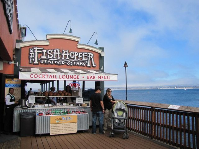 Downtown Monterey is home to many great attractions and restaurants, including The Fish Hopper and the Whaling Station steak house.