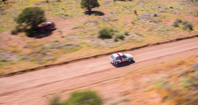 Tony Chavez and Raquel Salas worked hard to complete the Prescott Rally and were rewarded with the 2014 2WD Pacific Rally Cup.
