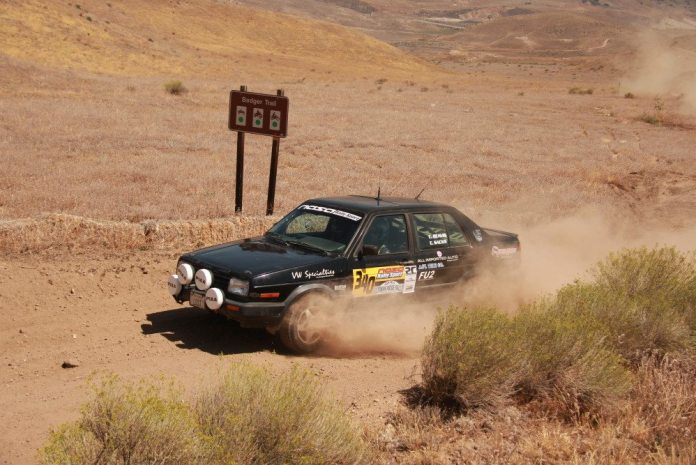 The all-woman team of Chrissie Beavis and Erica Sacks took fifth at the Gorman Rally.