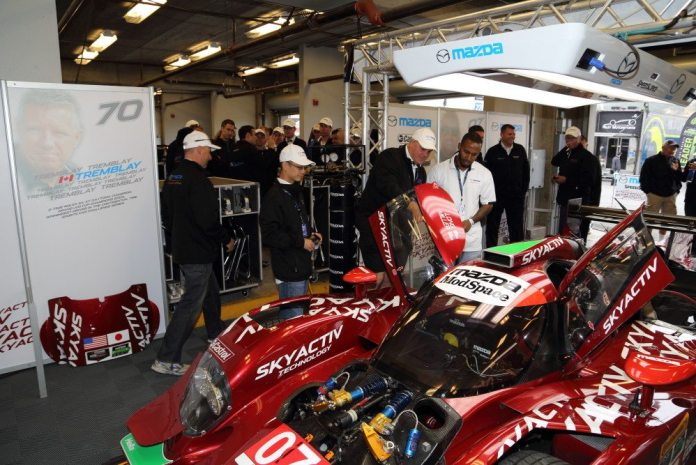 All the NASA Champions were treated to a close look at the Mazda Skyactiv diesel prototype.