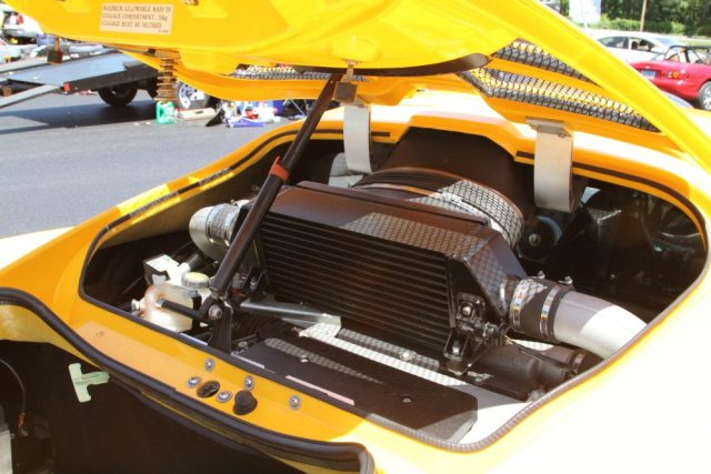 That intercooler ought to be big enough for this Lotus Elise.