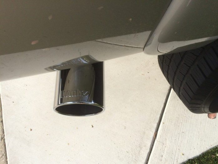 Finish off the system with a 5-inch polished stainless-steel exhaust tip — high and tight.