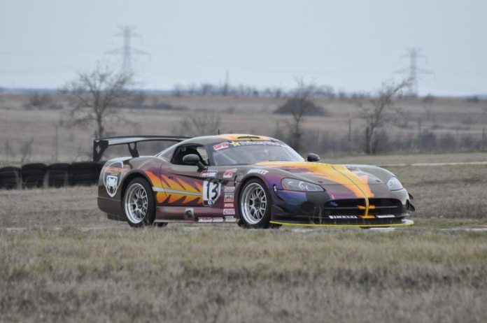 Robert Woodhouse drove his beautiful Viper Competition Coupe to the win in TT1 on Saturday at Motorsports Ranch.