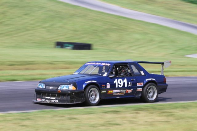 Todd Nunn could catch Terry Mathis in the corners, but couldn't keep up on the straightaways, and finished second in American Iron.