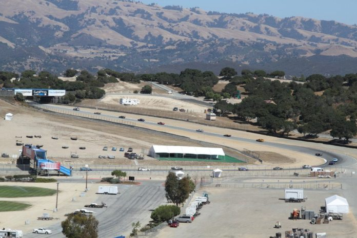 Most of the turns at Mazda Raceway Laguna Seca have lots of camber to keep your car planted, but many turns also lead to uphill stretches of track.