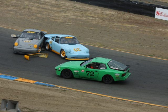 Steve Lewis took the 944 Spec win on Saturday and avoided a melee at the start of Sunday's race to finish second.